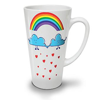 Rainbow Love Rain Fashion NEW White Tea Coffee Ceramic Latte Mug 12 oz | Wellcoda