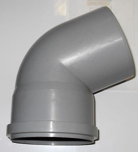 Soil Pipe 67.5 Degree Bend 110 mm Inlet - Push Fit - Grey - Waste