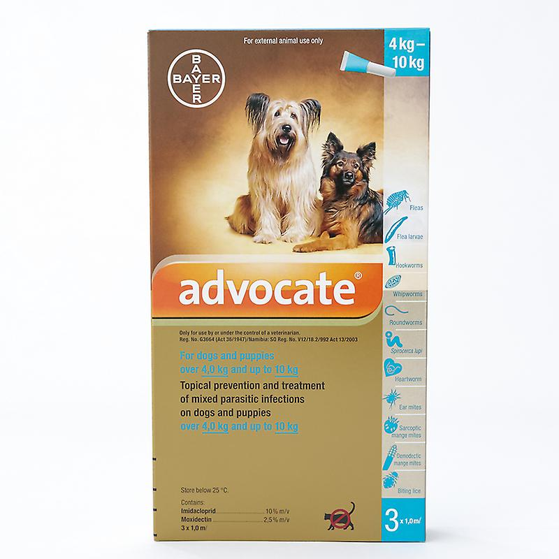 Advocate for Medium dogs 4-10kg (8.8-22lbs), 3 Pack