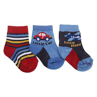 Baby gutter kjøretøy mønstret sokker (pakke med 3)