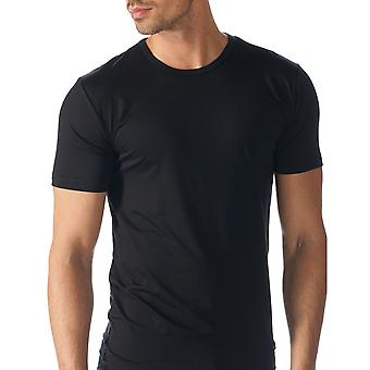 Mey 34202-123 Men's Network Black Solid Colour Short Sleeve Top