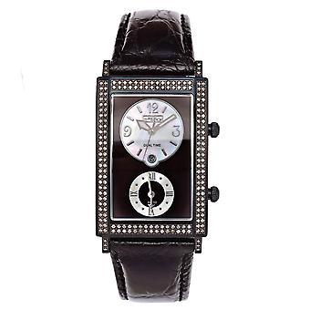 Joe Rodeo diamond men's watch - MANHATTAN black 1.76 ctw
