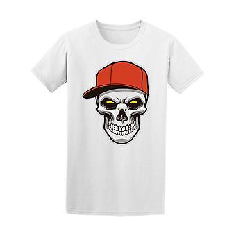 Skull Head Wearing Hat Tee Men's -Image by Shutterstock