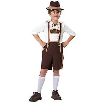 Bavarian Guy Oktoberfest Lederhosen German Fancy Dress Up Boys Costume