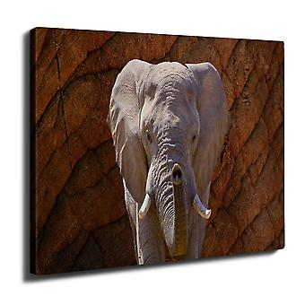 Elephant Safari eläinten Wall Art Canvas 40 cm x 30 cm | Wellcoda