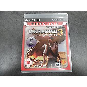Uncharted 3 Drakes Deception Essentials PS3 Game - Factory Sealed