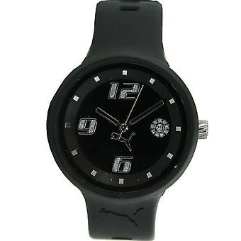 PUMA montre Mesdames slick noir PU910672001 3HD bracelet montre femmes