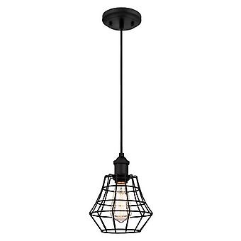 Westinghouse Nathan One-Light Pendant matte black with angled cage