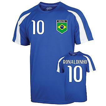 البرازيل الرياضة التدريب جيرسي (رونالدينيو 10)