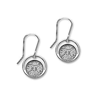 Sterling Silver perinteinen Contemporary astrologia Horoskooppi merkki Design pari korva korut-E1835