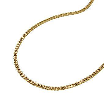 Collier or 375 réservoir chaîne, chaîne de 42 cm, 9 KT or bague fermoir