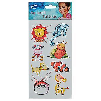 Aquarela de crianças de tatuagens