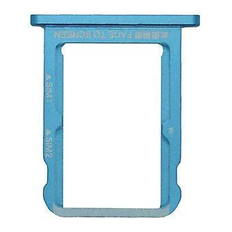 For Xiaomi MI A2 / MI 6 X kort halterneck SIM bakke slide indehaveren udskiftningsdel blå
