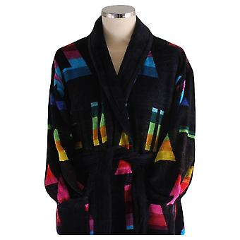 Bown of London Brighton Dressing Gown - Black/Multi-colour