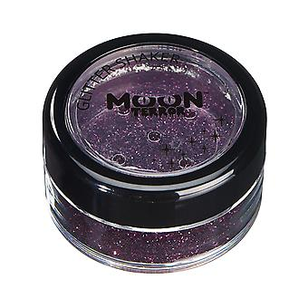 Moon Terror - Halloween Glitter Shaker makeup for the Face & Body - 5g - Easily add sparkles to your horror looks like a pro! Perfect for vampire, ghost, skeleton, witch, pumpkin, monster etc - Poison Purple