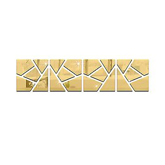 TRIXES 4PC 3D effect Cracked Pattern Ideal Home Decoration Gold