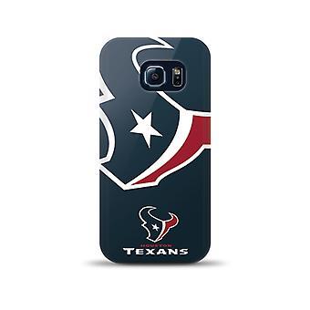 Mizco Sports NFL Oversized Snapback TPU Case for Samsung Galaxy S6 Edge (Houston Texans)