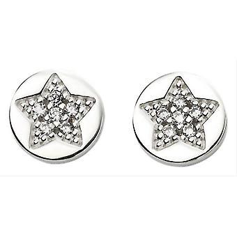 Inizii spianare orecchini stella - argento