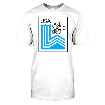 USA Lake Placid 1980 vinter OS Mens T Shirt
