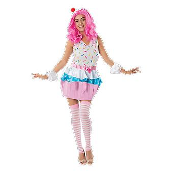 Womens Katy Perry Cupcake California Girl Fairy Tale Food Fancy Dress Costume