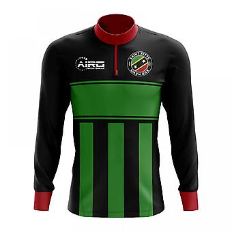 Sfântul Kitts și Nevis concept fotbal jumătate zip Midlayer top (negru-verde)