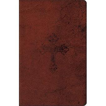 ESV ultradünnen Bibel (Trutone, Walnuss, verwitterte Cross-Design)