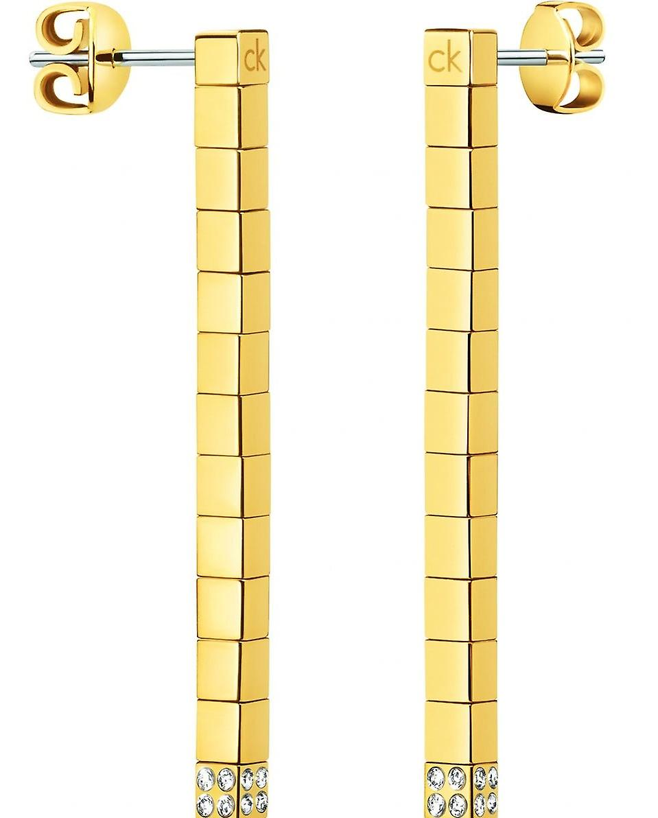 Calvin Klein Gold Plated Ladies Tune Earrings kj9mje140100
