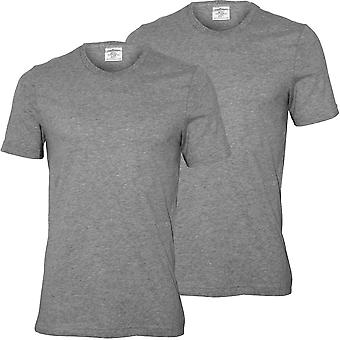 Calvin Klein 2-Pack uttalelse 1981 Crew-hals t-skjorter, grå Heather