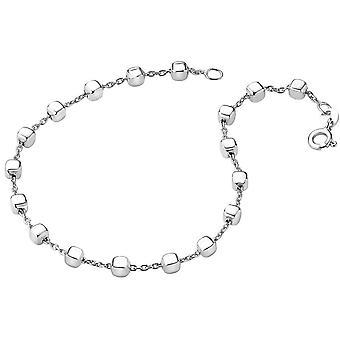 Bella Square Bead Link Bracelet - Silver