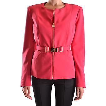 Elisabetta Franchi Ezbc050036 Damen's Fuchsia Nylon Outerwear Jacke