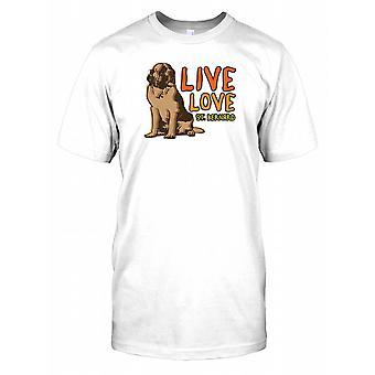 Live kærlighed St Bernard Kids T Shirt