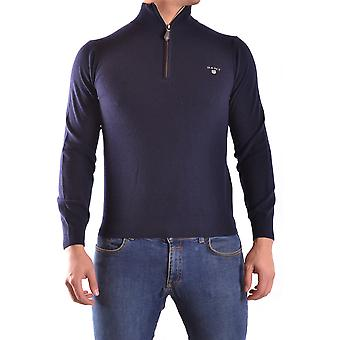 Gant Ezbc144040 Men's Blue Wool Sweater