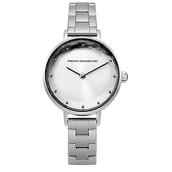 French Connection Womens Ladies Silver Wrist Watch FC1275SM