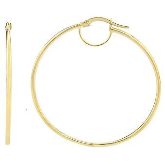 Mark Milton medium Plain Hoop Örhängen-gult guld