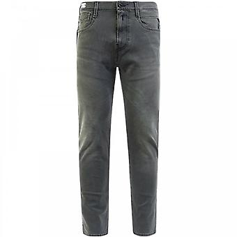Replay Hyperflex plus slim fit jeans grå