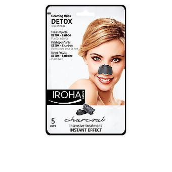 Iroha Detox träkol svart näsa remsor 5 Uds för kvinnor