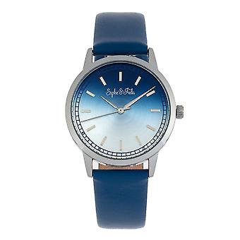 Sophie et Freda San Diego Leather-Band Watch - Bleu