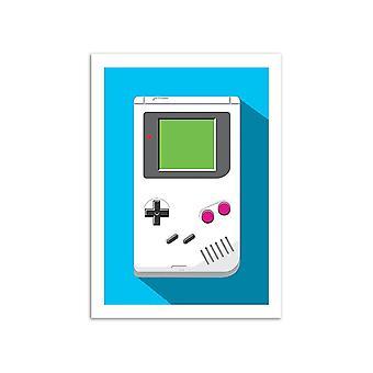 Art-Poster-retro gamer: Game Boy-Olivier Bourdereau 50 x 70 cm