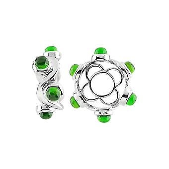 Storywheels Silver & Chrome Diopside Cabochon Swirl Wheel S429CHDI