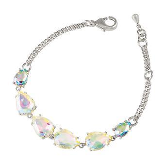 Eterna coleção sedução Teardrop Aurora Boreal cristal Tom moda pulseira de prata