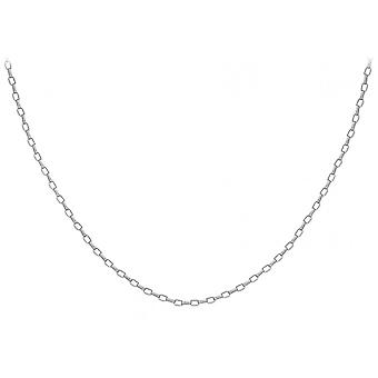 Eternity 9ct White Gold 24'' Oval Belcher Chain