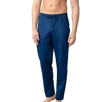 Mey Men 20760-664 Herren Lounge Neptune Blue Cotton Pyjama Pyjama Hose