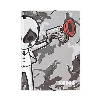 Fortnite Sammelmappe DIN A4 mit Eckspannern Grau Hardcover aus Hartkarton.