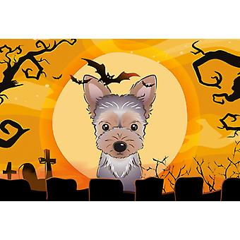 Carolines Treasures  BB1790PLMT Halloween Yorkie Puppy Fabric Placemat