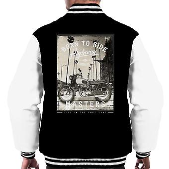 Divide & Conquer Born To Ride Men's Varsity Jacket