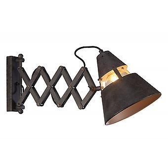 Mantra Industrial Wall Light 1 Light 40W E27, Oxide Metal
