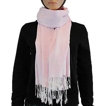 Cachecol/xale/xaile 100% pashmina luz rosa