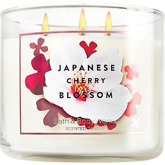 Bad & Körper arbeiten Slatkin & Co. japanische Kirschblüte Kerze 14,5 Unzen / 411 g