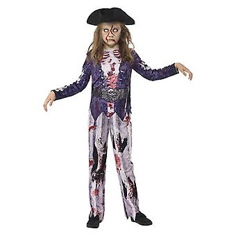 Filles Jolly Rotten Pirate Halloween Fancy Dress Costume