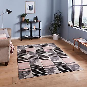 Pemboke HB33 Gris Rosa Rectángulo Rugs Alfombras Modernas